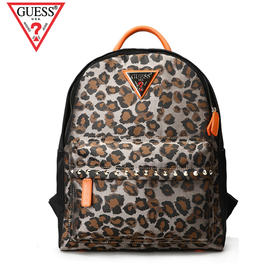 GUESS铆钉时尚经典豹纹背包