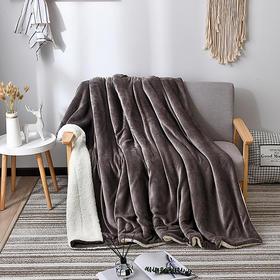 法兰绒羊羔绒毛毯 | 贴身即暖,双面柔软,如相拥般温柔