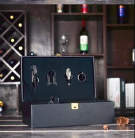 双支装红酒盒子皮质包装盒红酒礼盒