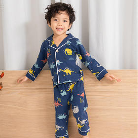 儿童纯棉家居服 动物/麋鹿满印睡衣