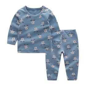 儿童麋鹿满印纯棉内衣套装家居服