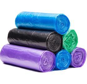 【塑料袋】一次性加厚背心式垃圾袋100只手提式家用点断式塑料袋+100积分