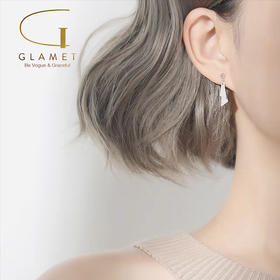 尚镁三角形小耳坠女气质银耳钉 L90005