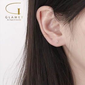 尚镁电镀925银简约迷你小三角形耳骨钉L90010