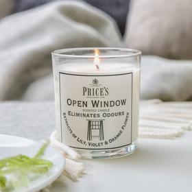 英国Price's玻璃香薰蜡烛香氛烛台柑橘百合香味 83mm X 74 mm