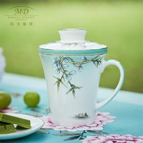M20玛戈隆特西湖盛宴三件套滤茶杯中国风骨瓷杯子家用礼盒装