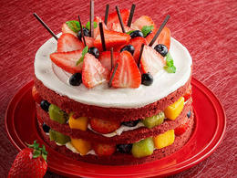 <限时折扣>甜美·草莓红丝绒蛋糕