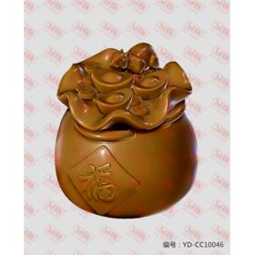 YD-CC10046 招财鼠 立体圆雕图纸