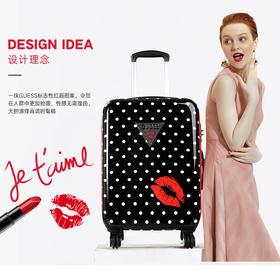 GUESS行李箱女士拉杆箱旅行箱万向轮密码箱20/24/28寸红唇硬箱