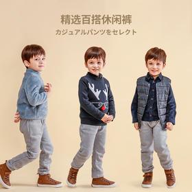 fx-咕噜日记纯色加厚休闲卫裤DBK813