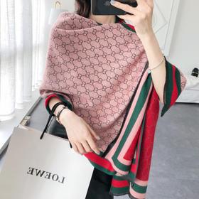 【4月初】C&C明星同款 双面羊羔绒围巾 出街百搭,时尚潮流,送礼必备,感受C&C奢华