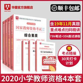 【顺丰快递】2020 华图新版 教师资格考试 6本 【小学套装】