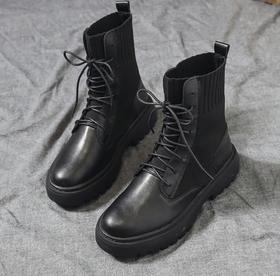 【马丁靴】英伦风透气机车靴网红ins厚底百搭短靴子+180积分