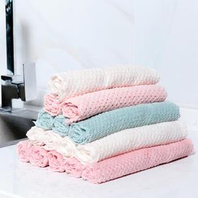 加厚吸水珊瑚绒厨房浴室家用清洁台面布擦桌子洗碗抹布毛巾