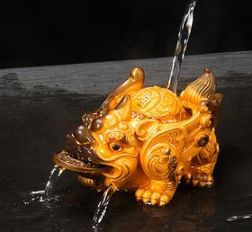 【茶宠】创意财源树脂茶具配件功夫喷水茶宠精品摆件+120积分