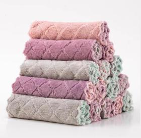 【洗碗巾】厨房珊瑚绒懒人抹布双层吸水加厚不沾油洗碗巾+120积分