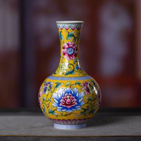 万寿福安牡丹瓶