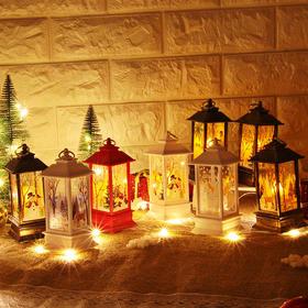 【为思礼】【让圣诞节更有氛围】雪人装饰小夜灯 桌面摆件圣诞节装饰品 老人圣诞节风灯烛台灯