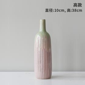 北欧简约陶瓷花瓶摆件欧式家居客厅办公室插花仿真花干花装饰摆设