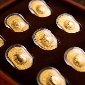 《永恒金》十二生肖礼盒,用999足金复刻价值千万的画作,中国人必藏之