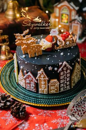 圣诞雪景裸蛋糕