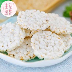 生活选集米饼海苔味芝麻味磨牙饼干非膨化油炸48g