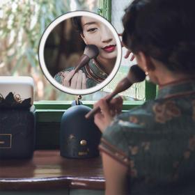 【优雅国风】Lofree洛斐藏苔化妆品护肤品收纳套装&藏月美妆镜  跨界之作 烫金工艺 完美收纳