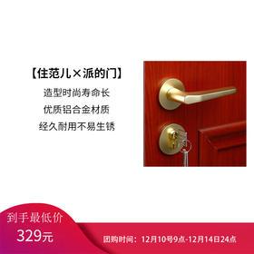 派的门 五金锁具 简约实木复合门卧室内门标配锁#PD010 金色锁具单拍不发货,买门才可拍