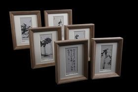 《中国古代文化名人——八大山人》 雕刻凹印钞艺精品画珍藏册(画框型)