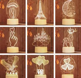 【小夜灯】创意礼品3D立体小夜灯 +120积分