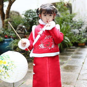 LLFS1088新款中国风儿童棉服加绒加厚两件套TZF