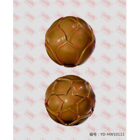 YD-HW10113 荷花珠 手串珠子 圆珠花纹 立体圆雕图纸