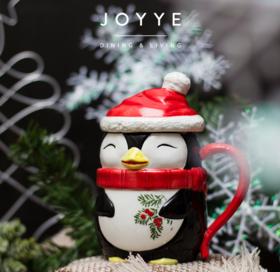 JOYYE萌物派对 卡通手绘马克杯企鹅