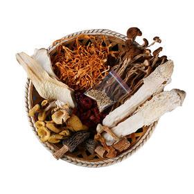 云南特产七彩菌汤包100g/袋*2羊肚菌类树菇类干货煲汤食材