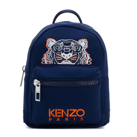 【寺库专供】Kenzo 高田贤三 女士蓝色虎头图案双肩背包 F765SF301F21-76