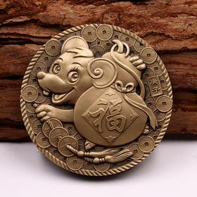 【沈阳造币】2020年鼠年生肖铜章45mm