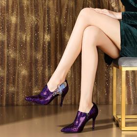 OLD-kissyang33-103新款水钻百搭深口性感高跟鞋TZF