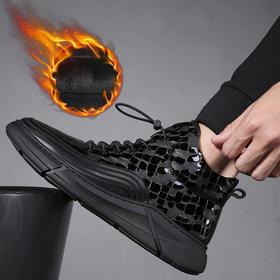YMLXY82352新款韩版真皮加绒保暖厚底增高棉鞋TZF