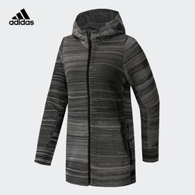【特价】Adidas阿迪达斯 女款户外运动外套 - 条纹连帽,柔软舒适