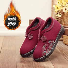 JXXY-J55新款传统加绒高帮防滑老北京布棉鞋TZF