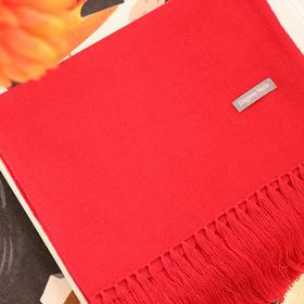 新年送礼佳品,经典本命红 流苏羊绒围巾