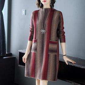 AHM-ym5116新款条纹针织连衣裙TZF