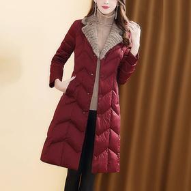 HHFS新款仿水貂毛领加厚保暖外套TZF