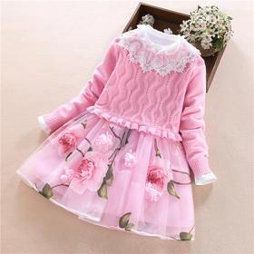 ALBL-B635新款韩版儿童毛衣两件套装TZF