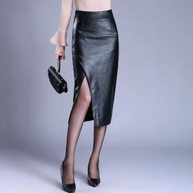 PX-kAZR-6093新款轻熟高腰开叉性感包臀裙TZF