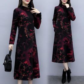 HT9760-1200新款时尚加绒加厚显瘦冬季打底裙TZF