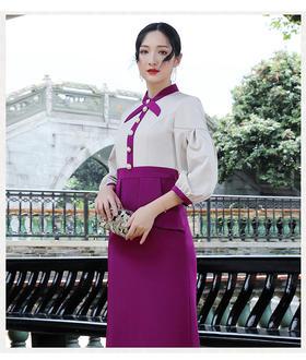 DLQ-L6435新款法式复古轻熟风气质裙TZF
