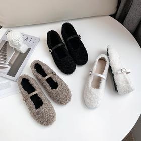 OLD-5-21新款羊羔毛加绒豆豆鞋TZF