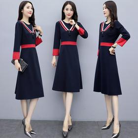 XP-XQ8698新款韩版收腰名媛女装裙TZF