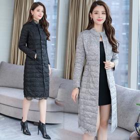 NYL112660新款韩版蕾丝气质修身保暖外套棉服TZF
